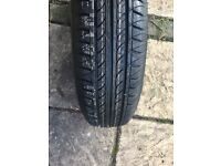 Tyre, brand new, unused (on wheel) bought for Nissan Micra K11 1992 - 2002