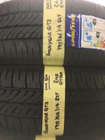 175/65/14 175-65-14 1756514 82T GOODYEAR GT3 PAIR OF 2 TYRES
