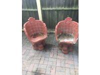 Stone garden chairs
