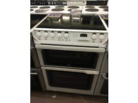 60CM WHITE CREDA ELECTRIC COOKER DOUBLE OVEN