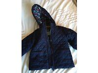 Boys Blue M&S Coat 6-9M