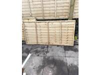 Fence panels 6x3ft