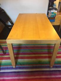 Ikea extendable kitchen/dining table with 4 stacking chairs NO offers please
