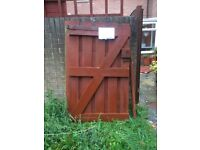 Free gate and wood
