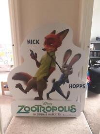 Zootroplis card board cut out