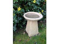 Old style weathered Staddle stone bird bath £30