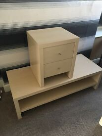 Tv stand and draws