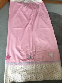 Girls pink bedroom curtains from NEXT