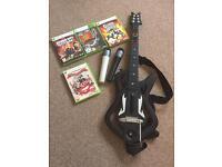 XBox 360 Guitar Hero / Lips Bundle