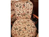 Vintage Retro Ercol 3 piece suite, 3 seater sofabed and 2 chairs
