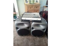 PA System 1000w (Wharfdale) & (Phonics) Mixer Desk Amp with built in FX's