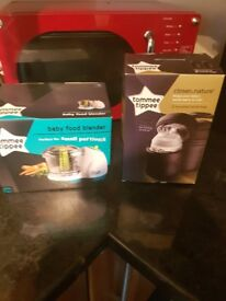Tommee tippee blender and bottle bags BOTH BRAND NEW IN BOXES NEVER USED