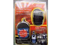 Universal Mobile Phone Holder with Speaker - Dash Vent mount. LED power ind.Volume control