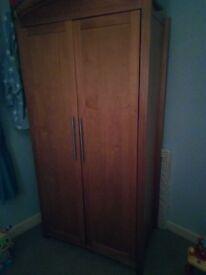 Oak 3piece Nursery Furniture - Cot, Wardrobe & Drawers