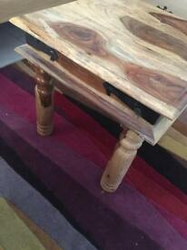 Solid wood beside table