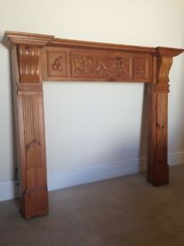Beautiful Wooden Fireplace Surround