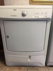 Zanussi condenser tumble dryer, tested and guaranteed