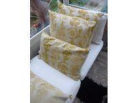4 damask woven cushions