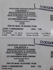 2 tickets for Calexico concert/gig