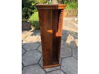 CD storage tower - dark wood - John Lewis Maharani range