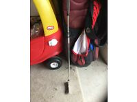 Odyssey putter, progen 5 wood and Wilson rescue