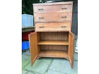 Storage chest of draws with cupboard