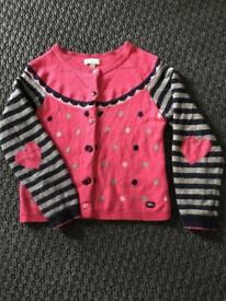 Absorba French designer like Mini Boden angora sweet heart cardigan 3-4 years
