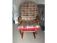 Wooden Nursing / Glider / Rocking Chair