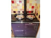 2 Oven Gas AGA Rare Aubergine Colour - Dismantling Included in Price