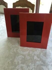 Set Of 2 Red Photo Frames - (NEW From M&S)