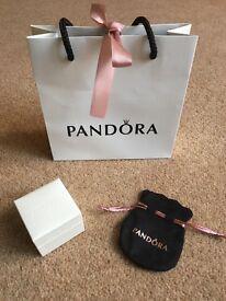 Genuine Pandora Gift Bag, Charm Box and Pouch