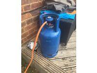 Butane gas bottle, gas and tegulator