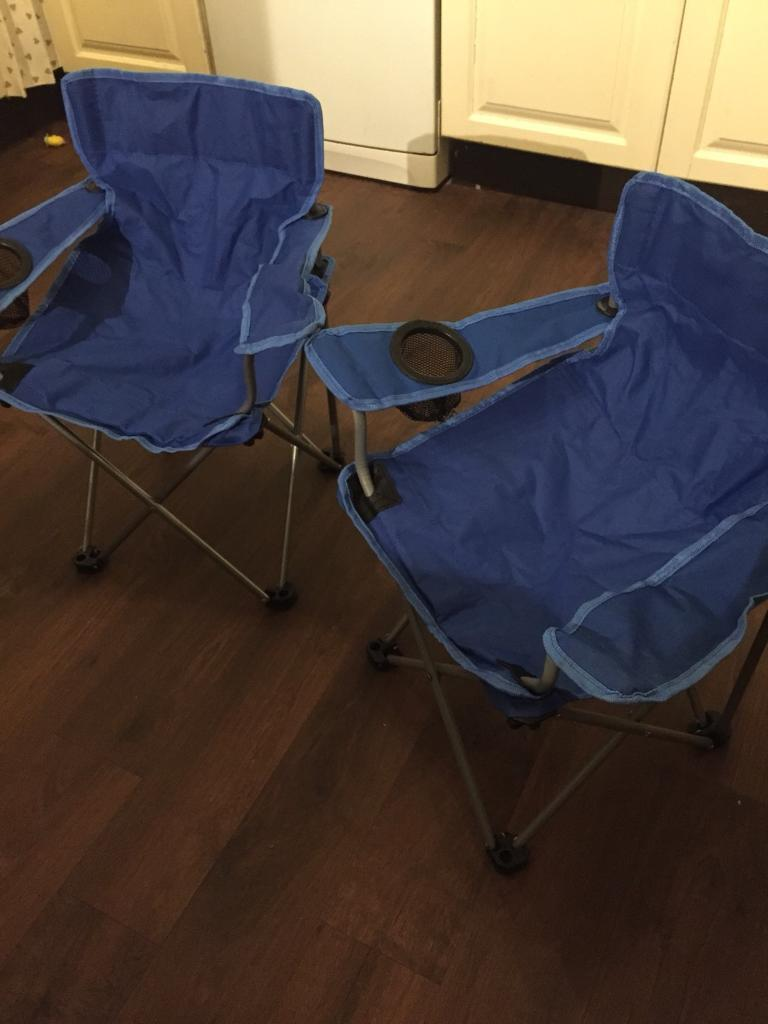 Pair of kids small folding camping garden chairs £10 for the pair ...