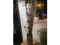 Flower vase with artificial flowers