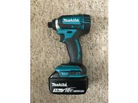 Makita dtd152 impact driver brand new, comes with 3ah li ion battery
