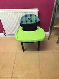 Plastic chair and tray