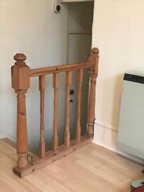 Wooden stair rail £15 or nearest offer