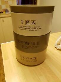 Tea coffee and sugar canisters from Next