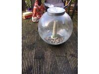 Bi-orb fish tank aquarium (silver) 60 lt & stand