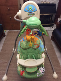 Fisher Price Rainforest swing away mobile in excellent condition