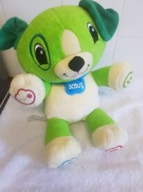 Scout Teddy..Interactive Teddy Bear..Green..Very Good Condition..Pet/Smoke Free