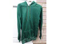 Brand new Man's hoodie size M bottle green