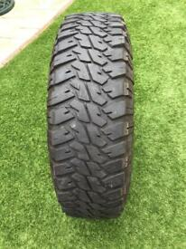 Land Rover Defender Goodyear Wrangler tyres