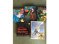 Selection of murder mystery games