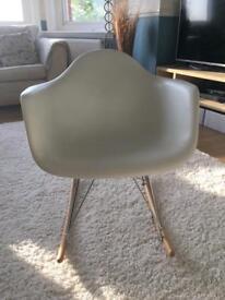 White polypropylene rocking chair