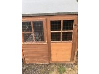 Wendy house, rabbit hutch, chicken coop, tool shed