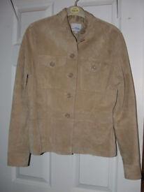 'Papaya' Beige Jacket Size 10 - 100% real suede/leather – BNWoT