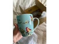 Dunelm Set of 4 Beautiful Bird Mugs