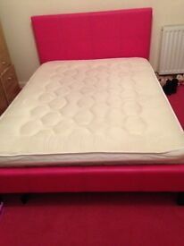 Pink double bed