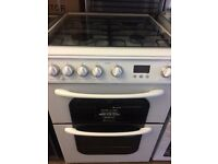 HOTPOINT FULLY GAS COOKER 60cm DOUBLE OVEN WITH GRILL FREE DELIVERY AND WARRANTY